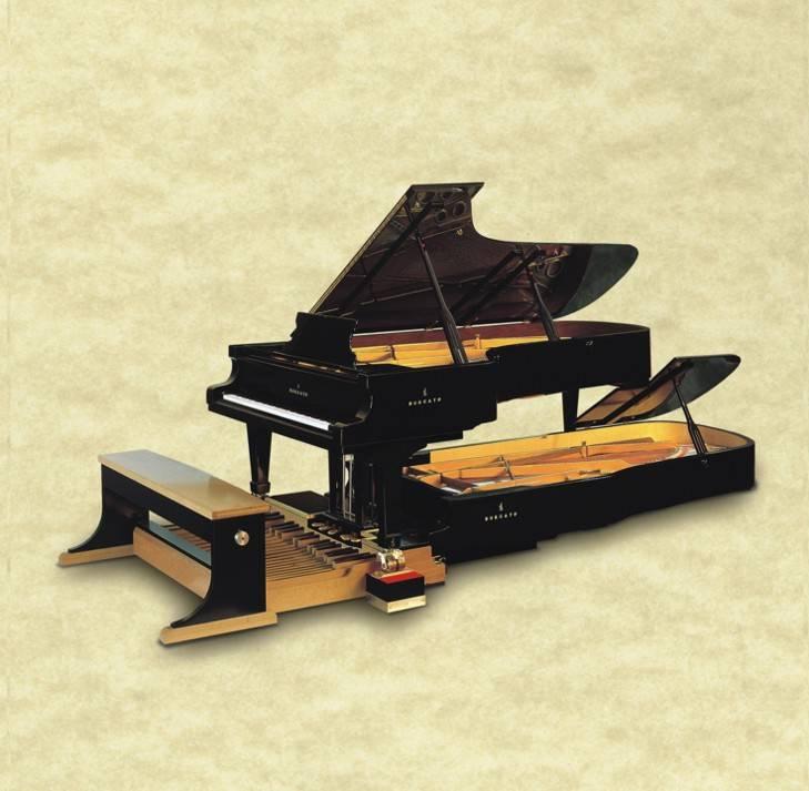 Le piano Borgato double à pédalier